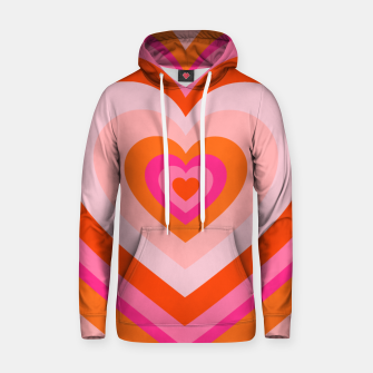 Thumbnail image of hypnotic retro hearts pattern Hoodie, Live Heroes
