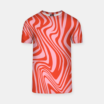 Thumbnail image of Swirl Lines Pattern in Red and Hot Pink T-shirt, Live Heroes