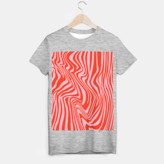 Thumbnail image of Swirl Lines Pattern in Red and Hot Pink T-shirt regular, Live Heroes