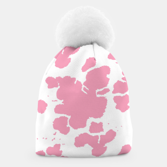 Thumbnail image of Pink Cowhide Spots Beanie, Live Heroes
