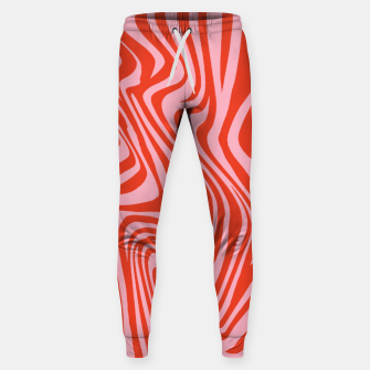 Thumbnail image of Swirl Lines Pattern in Red and Hot Pink Sweatpants, Live Heroes