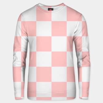 Thumbnail image of Pink Checkered Pattern Unisex sweater, Live Heroes