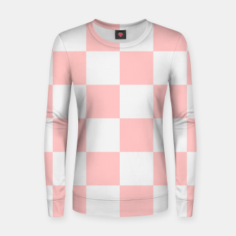 Thumbnail image of Pink Checkered Pattern Women sweater, Live Heroes