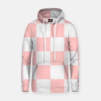 Thumbnail image of Pink Checkered Pattern Hoodie, Live Heroes