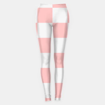 Thumbnail image of Pink Checkered Pattern Leggings, Live Heroes