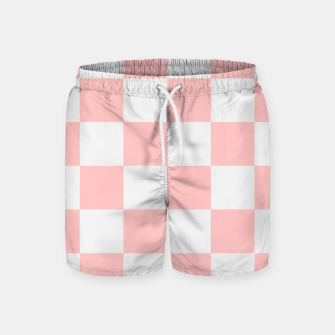 Thumbnail image of Pink Checkered Pattern Swim Shorts, Live Heroes