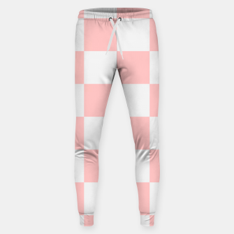 Thumbnail image of Pink Checkered Pattern Sweatpants, Live Heroes