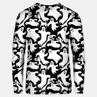 Thumbnail image of Ghosts Pattern Unisex sweater, Live Heroes