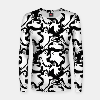 Thumbnail image of Ghosts Pattern Women sweater, Live Heroes