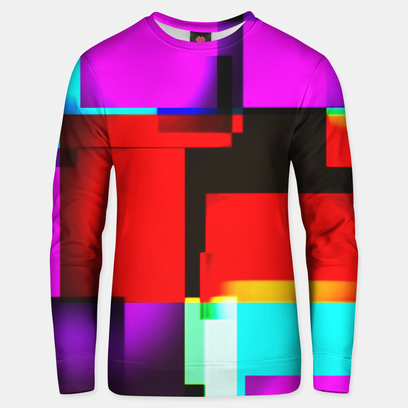 Image of abstract squares Unisex sweatshirt - Live Heroes
