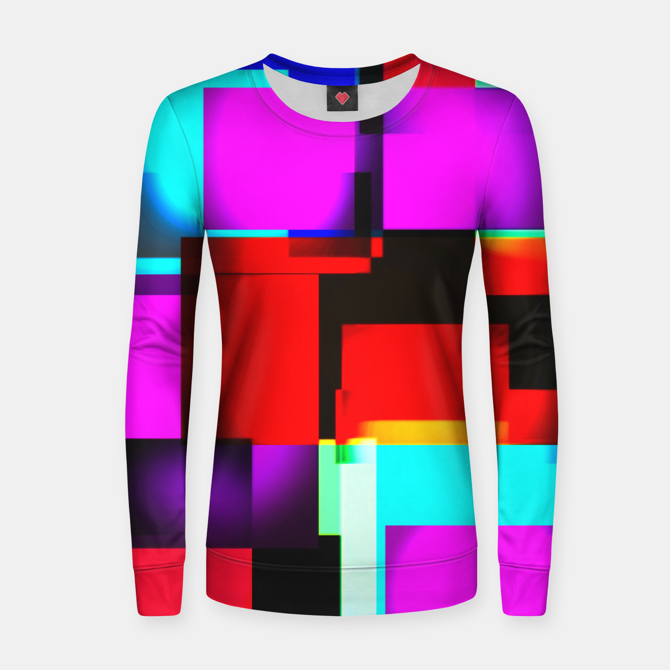 Image of abstract squares Frauen sweatshirt - Live Heroes