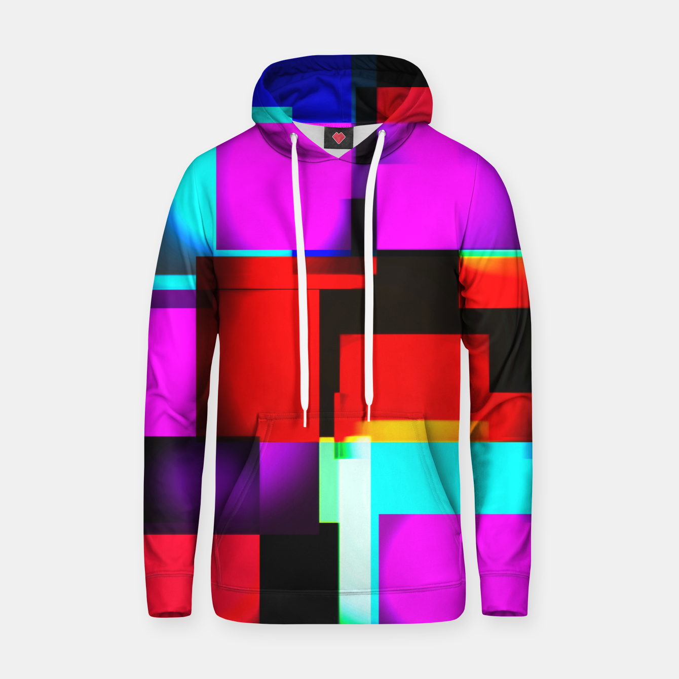 Image of abstract squares Kapuzenpullover - Live Heroes