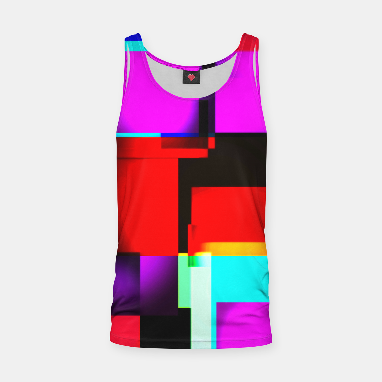 Image of abstract squares Muskelshirt  - Live Heroes