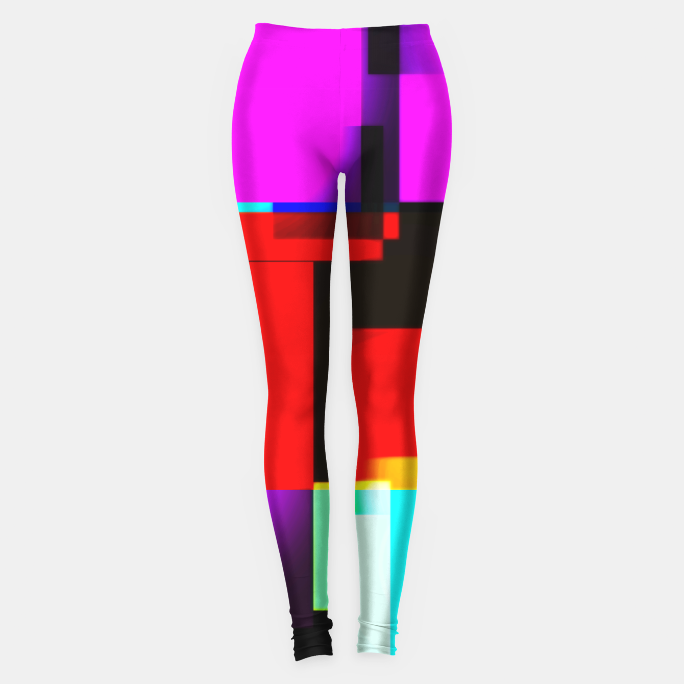 Image of abstract squares Leggings - Live Heroes
