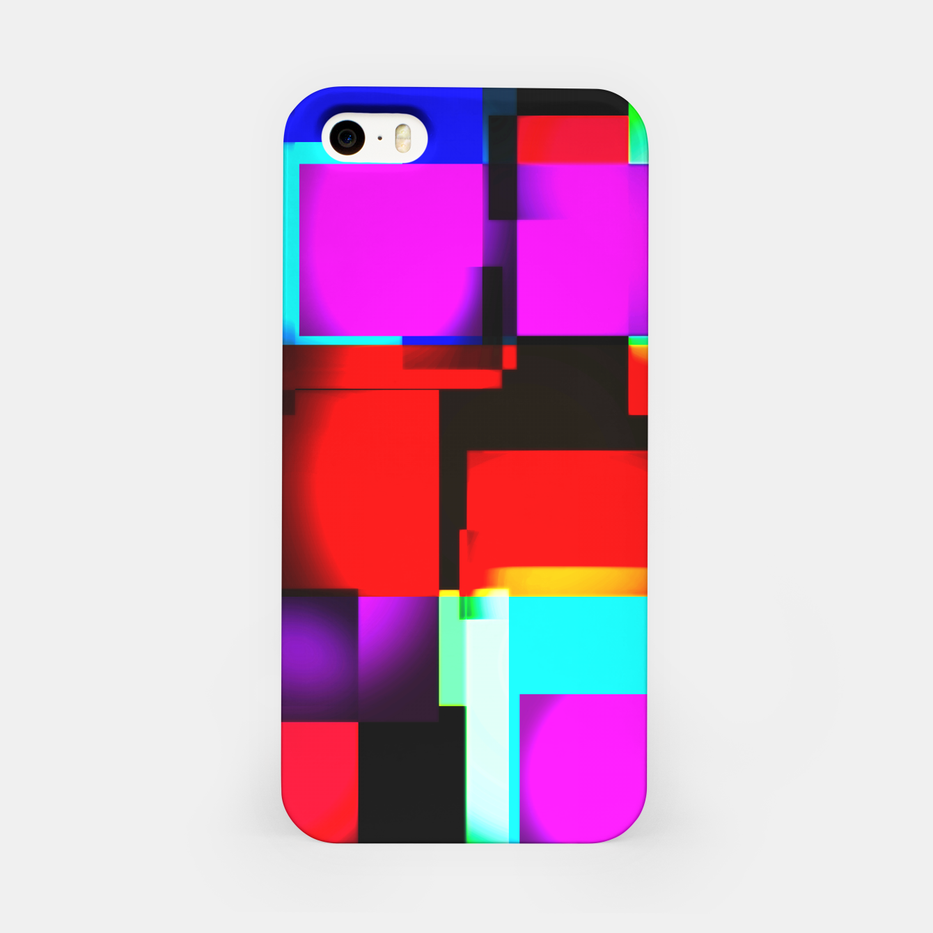 Image of abstract squares iPhone-Hülle - Live Heroes