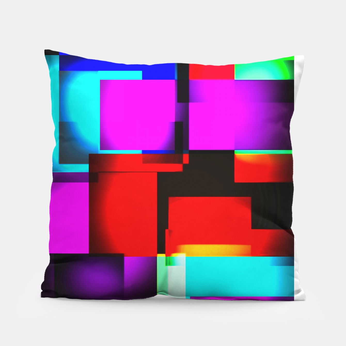 Image of abstract squares Kissen - Live Heroes