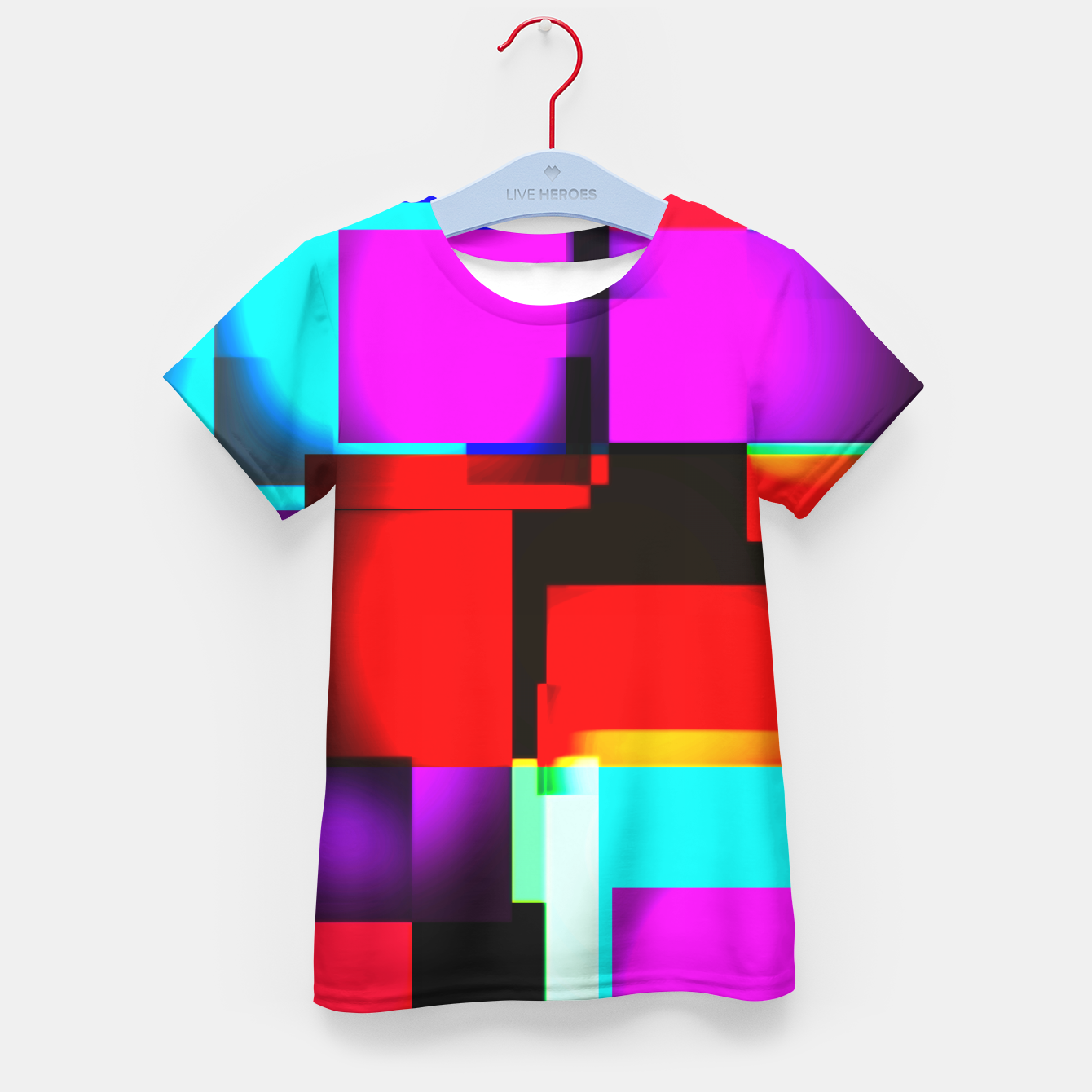 Image of abstract squares T-Shirt für kinder - Live Heroes