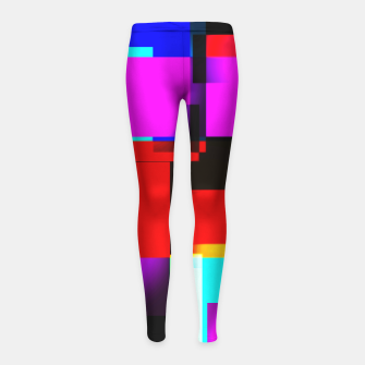 Thumbnail image of abstract squares Kinder-Leggins, Live Heroes