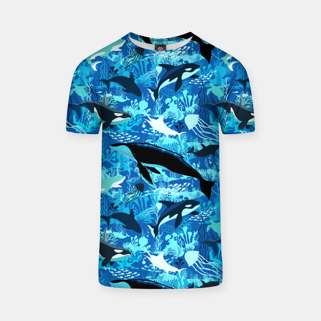 Image of Sealife Blue Shades Dream Underwater Scenery T-shirt - Live Heroes