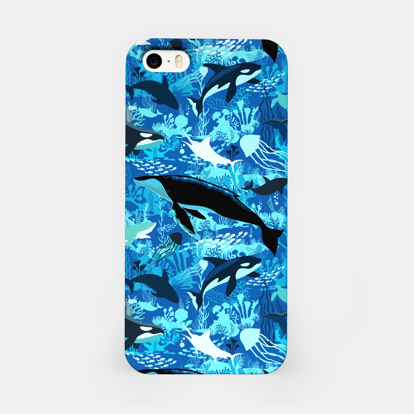 Image of Sealife Blue Shades Dream Underwater Scenery iPhone Case - Live Heroes