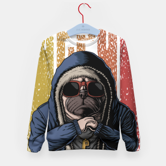 Thumbnail image of Domineering dog Kid's sweater, Live Heroes