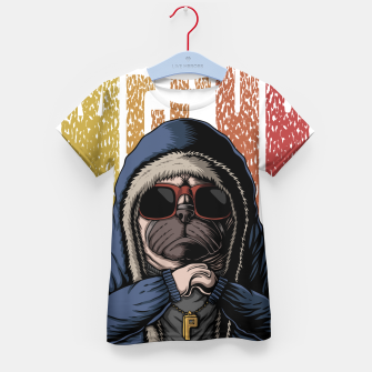 Thumbnail image of Domineering dog Kid's t-shirt, Live Heroes