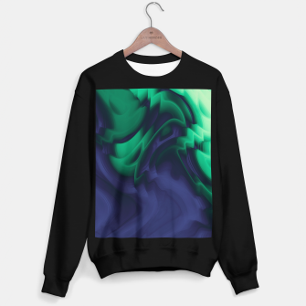 Miniatur The abyss, blue and green abstract deep underwater print Sweater regular, Live Heroes