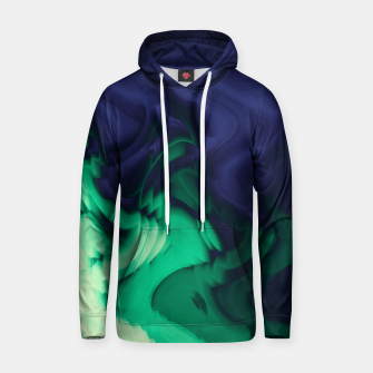 Miniatur The abyss, blue and green abstract deep underwater print Hoodie, Live Heroes