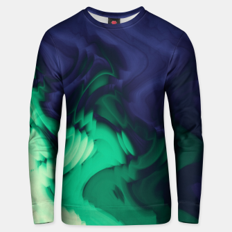 Miniatur The abyss, blue and green abstract deep underwater print Unisex sweater, Live Heroes