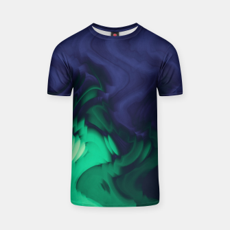 Miniatur The abyss, blue and green abstract deep underwater print T-shirt, Live Heroes