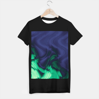Miniatur The abyss, blue and green abstract deep underwater print T-shirt regular, Live Heroes