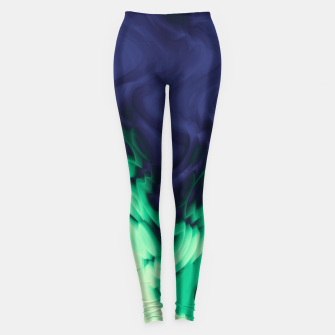 Miniatur The abyss, blue and green abstract deep underwater print Leggings, Live Heroes