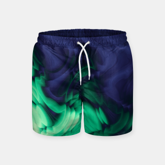 Miniatur The abyss, blue and green abstract deep underwater print Swim Shorts, Live Heroes
