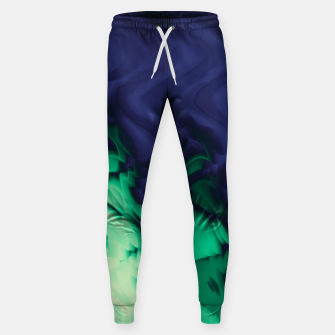 Miniatur The abyss, blue and green abstract deep underwater print Sweatpants, Live Heroes