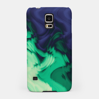Miniatur The abyss, blue and green abstract deep underwater print Samsung Case, Live Heroes