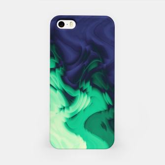 Miniatur The abyss, blue and green abstract deep underwater print iPhone Case, Live Heroes