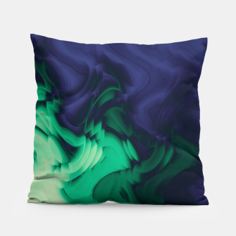 Miniatur The abyss, blue and green abstract deep underwater print Pillow, Live Heroes
