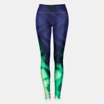 Thumbnail image of The abyss, blue and green abstract deep underwater print Leggings, Live Heroes