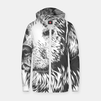 Thumbnail image of Portrait of a dog Zip up hoodie, Live Heroes