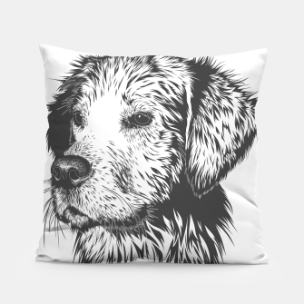 Thumbnail image of Portrait of a dog Pillow, Live Heroes