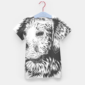 Thumbnail image of Portrait of a dog Kid's t-shirt, Live Heroes