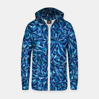 Frost crystal mosaic Zip up hoodie thumbnail image