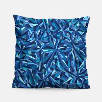 Thumbnail image of Frost crystal mosaic Pillow, Live Heroes