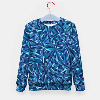 Thumbnail image of Frost crystal mosaic Kid's sweater, Live Heroes