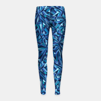 Thumbnail image of Frost crystal mosaic Girl's leggings, Live Heroes