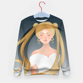 Thumbnail image of Moon Girl Kid's sweater, Live Heroes
