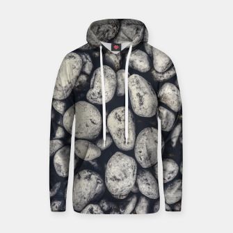 Thumbnail image of White Rocks Close Up Pattern Photo Hoodie, Live Heroes