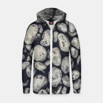Thumbnail image of White Rocks Close Up Pattern Photo Zip up hoodie, Live Heroes