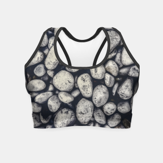 Thumbnail image of White Rocks Close Up Pattern Photo Crop Top, Live Heroes