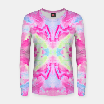 Thumbnail image of Texture Painting  Magenta Women sweater, Live Heroes